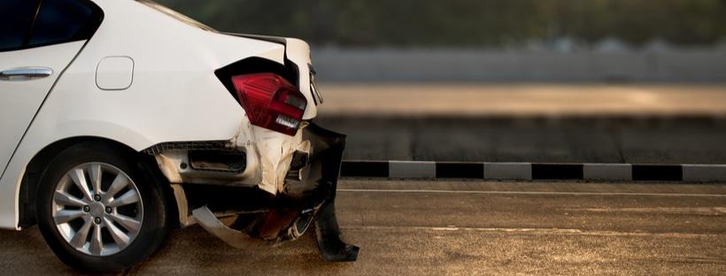 Rear ended car